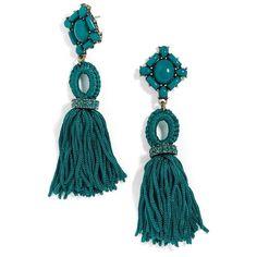 Women's Baublebar Sohvi Tassel Drop Earrings ($36) ❤ liked on Polyvore featuring jewelry, earrings, teal, drop earrings, bead jewellery, teal jewelry, beading jewelry and tassle earrings