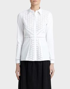Excursion Stretch Katrina Blouse - The White Shirt Shop - Features White Shirts, White Blouses, Lafayette 148, Shirt Shop, Stretches, Tunic Tops, Window Shopping, York, Women
