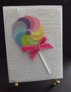 Lollipop Birthday Card http://www.shophandmade.com/store/creationsbysharn/