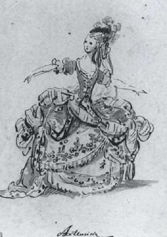 Study for costume of Artemisia, Queen of Halicarnassus by LOUIS RENE BOQUET