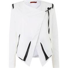 Jolie Moi Zipped light jacket found on Polyvore
