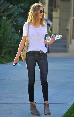 Tampil gaya dengan ankle boots biar penampilan kamu makin stylist Source: effortlesstyle.com