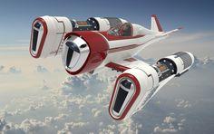 Retro White by DeviantArt User Retromaniak Spaceship Art, Spaceship Design, Spaceship Concept, Concept Ships, Concept Art, Hover Bike, Sci Fi Spaceships, Sci Fi Ships, Star Wars Ships