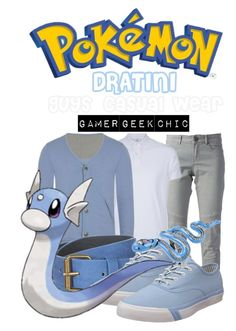 """Pokémon - Dratini"" by gamer-geek-chic ❤ liked on Polyvore featuring Twin-Set and Pro-Keds"