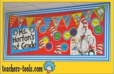 Welcome to the class Dr. Character Bulletin Boards, Disney Bulletin Boards, Dr Seuss Bulletin Board, Teacher Bulletin Boards, Bulletin Board Borders, Dr. Seuss, Doctor On Call, Classroom Themes, Classroom Design