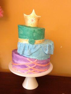 Princess birthday cake   Tangled Rapunzel Jasmine Belle Cinderella Disney inspired birthday girl