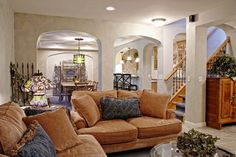 Basement Photos Design, Pictures, Remodel, Decor and Ideas - bright and relaxing