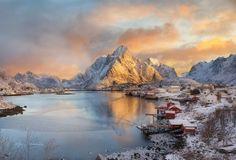 Lofoten, Norway Winter