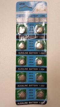 AG13 Knopfzellen / Batterien, 10 Stück nur CHF 9.90 - active12.com-Geschäftspartner-Aktion
