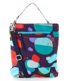 haiku Blue Abstract Tour Crossbody Bag
