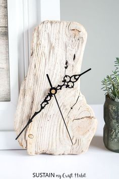 How to Make a Clock with Driftwood Create your own rustic, one of a kind driftwood clock. We'll show you how to make a clock using a piece of found driftwood.