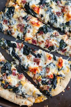 Brown Butter Lobster and Spinach Pizza with Bacon + Fontina | halfbakedharvest.com @Half Baked Harvest