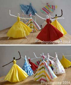I love these DIY Pipe Cleaner Dolls. So clever! * I had this in General Creative Crafts. Add this to the OTHER Ballerina Doll pictorial tutorial, the one I wrote about. It's not the same, but similar enough. -S.