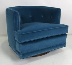 Pair of Swivel Lounge Chairs Attributed to Harvey Probber | From a unique collection of antique and modern swivel chairs at https://www.1stdibs.com/furniture/seating/swivel-chairs/