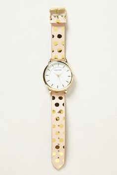 gold polka dot watch