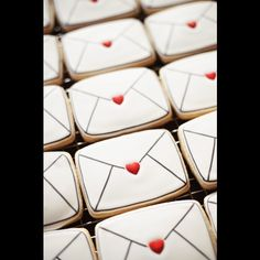 """""""""""Signed, sealed, delivered.. I'm yours.""""  #ValentinesDayCookies #DecoratedCookies #ValentinesDay"""""""