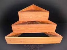 how to build wooden stacking planter - Google Search