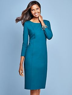 Talbots - Back-Zip Ponte Sheath | | Misses Discover your new look at Talbots. Shop our Back-Zip Ponte Sheath for stylish clothing and accessories with a modern twist at Talbots