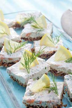 Lohi-tuorejuustopalat | K-ruoka #cocktailpalat