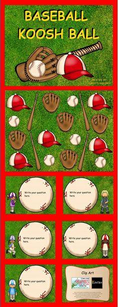 Baseball Koosh Ball This is a fun Baseball Themed SmartBoard lesson teaches can program to meet their classroom needs.  $