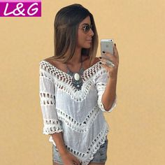 Summer Style 2016 Women Blouses Hot Selling Plus Size Lace Crochet Blusas Femininas Shirt Tropical Tops for Women Clothing 40188
