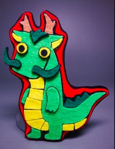 Dragon felt craft: Use in the Chinese Creation story