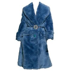 Collection featuring Miu Miu Coats, Miu Miu Jackets, and 198 other items Blue Fur Coat, Blue Coats, Early 2000s Fashion, Girl Fashion, Fashion Outfits, Fur Jacket, Aesthetic Clothes, Polyvore Outfits, Miu Miu