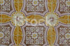 Portuguese vintage ceramic tile - fotografia de stock royalty-free