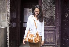 Jess by Léa Toni - cognac - Leather bag made in Italy