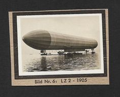 (111cents) Germany 1932 Small Photo Zeppelin LZ 2 4cm x 6cm