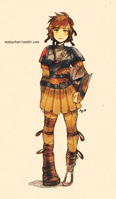 Genderswap Art Disney Dreamworks Characters | The Mary Sue - Aww Hiccup looks so adorable!