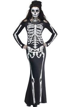 Long Skeleton Halloween Costume LAVELIQ