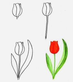 Как научить ребенка рисовать цветы