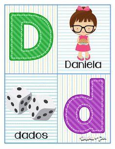 Tarjetas de abecedario para aprender las letras Learning Numbers Preschool, Toddler Learning Activities, Preschool Lessons, Alphabet Letters Images, Alphabet Cards, Pre Kindergarten, Kindergarten Worksheets, Spanish Lessons For Kids, School Notes