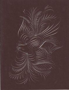 Bird Flourishing. #art #birds #bird #blackandwhite #flourishing