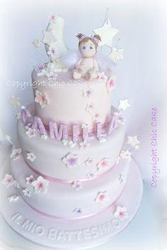 Chic Cake: Torta Battesimo Bimba - Il Paradiso di CAMILLA