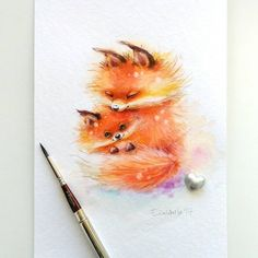 "9,464 Likes, 43 Comments - Watercolor illustrations (@watercolor.illustrations) on Instagram: "" Watercolorist: @genechka_djogan #waterblog #акварель #aquarelle #drawing #art #artist #artwork…"""