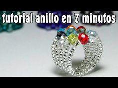Bisuteria Anillo de cristales...................((29)) - YouTube