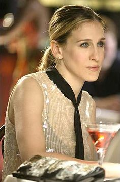 SJP as Carrie Bradshaw on Sex and The City.