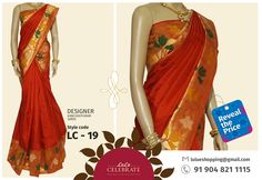 Marvelous looking Designer Kancheepuram Saree for all pretty ladies out there !  To reveal the price of this stunning Saree inbox us with the style code ( LC - 19) through lulueshopping@gmail.com. For more details, please contact: +91 904 821 1115  ‪#‎LuluCelebrate‬  ‪#‎RevealThePrice‬