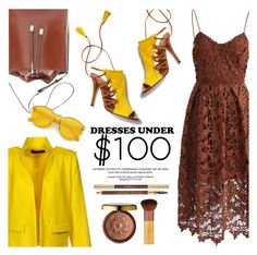 """""""Dresses Under $100"""" by helenevlacho ❤ liked on Polyvore featuring Chicwish, Aquazzura, Alexandre Vauthier, Physicians Formula, EcoTools, contestentry and under100"""