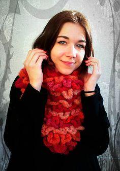 lurga / Croco Lividus No.2 crotchet scarf