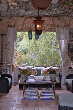 charming outdoor living room
