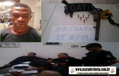 A CARA DE VITÓRIA: Em Vitória homem é preso com arma de fogo