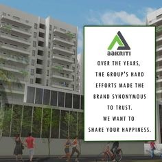 Over the years, the group's hard efforts made the brand synonymous to trust. We want to share your happiness. #Flats and #apartments #sale #Hyderabad http://www.aakritihousing.com/