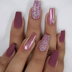 80 the most popular nail type 80 die beliebtesten Nail Typ 2019 Which nail shape do you like? Take a look at the over 80 most popular nail art ideas we& collected below. You will find the perfect … - Cute Acrylic Nails, Glitter Nail Art, Nail Art Diy, Diy Nails, Nail Nail, Acrylic Nail Designs Glitter, Shellac Nail Designs, Pink Manicure, Ombre Nail