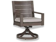 Sunset West Quick Ship Laguna Aluminum Swivel Dining Chair