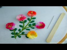 Hand Embroidery amazing Tricks Hack with Ice Cream Stitck,supe. Hand Embroidery amazing Tricks Hack with Ice Cream Stitck,supe. Hand Embroidery Flowers, Paper Embroidery, Hand Embroidery Stitches, Hand Embroidery Designs, Border Embroidery, Embroidery Ideas, Hand Stitching, Embroidery For Beginners, Sewing Projects For Beginners