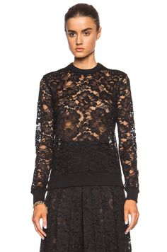 GIVENCHY Lace Sweatshirt