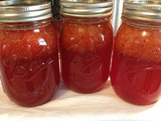Strawberry Lemonade Concentrate - canned and ready to be mixed for a nice refreshing summer time drink!